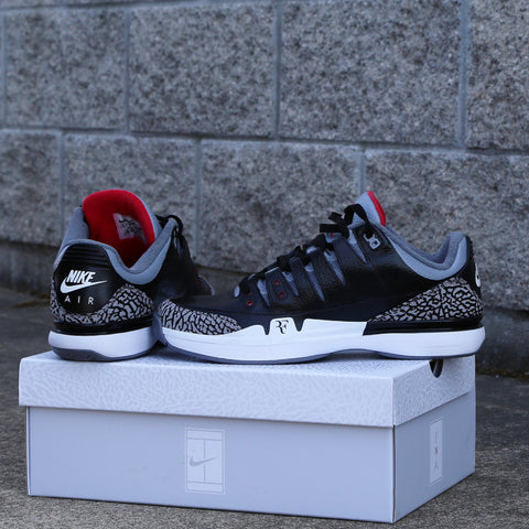 Custom Nike Air X Jordan Zoom Vapor AJ3 Black Cement 70998-160 10.5 1 of 1