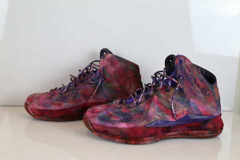 Custom Nike Lebron 10  Suede EXT Abstract Floral 10.5