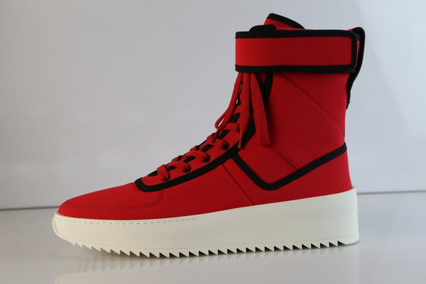 Fear of God Military Red Black Nylon Sneaker Made in Italy