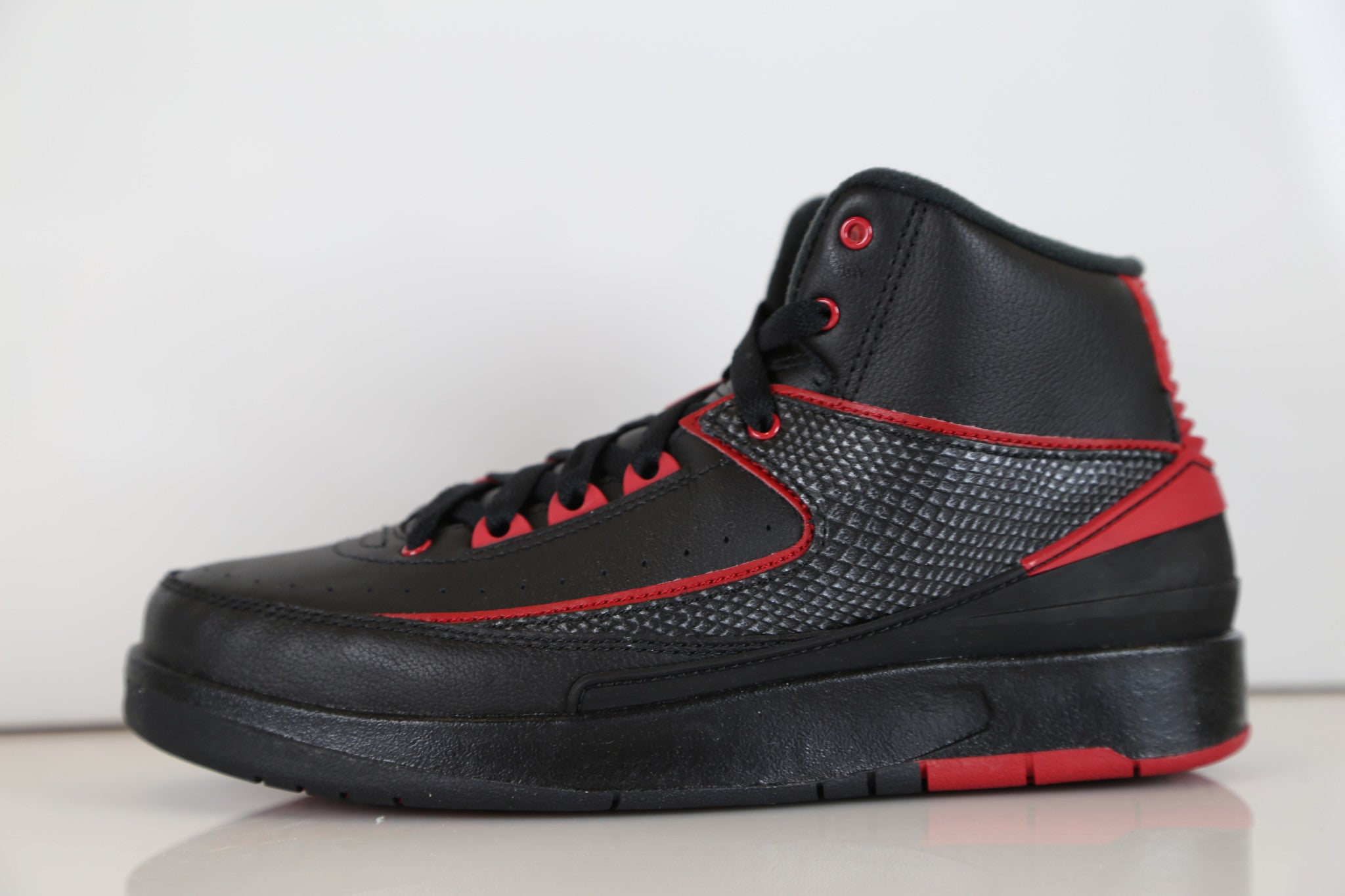7c58858d8ee Nike Air Jordan Retro 2 Alternate 87 Black Red 834274-001 Adult and GS |  Zadehkicks