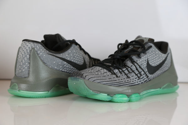 b437e59aced2 Nike KD 8 Hunts Hill Night Night Silver Pewter Green Glow 749375-020 ...