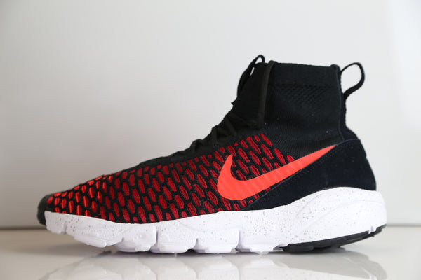 Nike Air Footscape Magista Flyknit Black Gym Red Crimson 816560-002