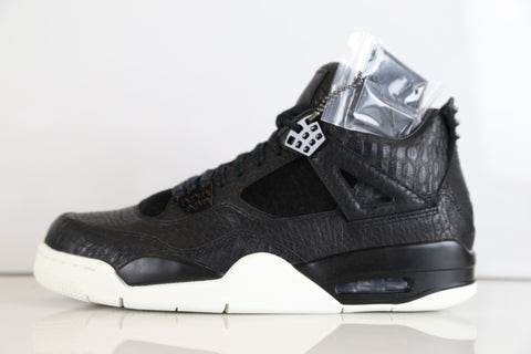5154d26943a5c2 Nike Air Jordan Retro 4 Premium Pony Hair Black 819139-010