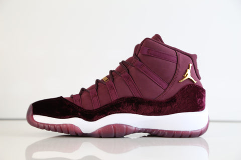 Nike Air Jordan Retro 11 RL Girls GG GS Heiress Red Velvet Night Maroon Gold 852625-650 (NO Codes)