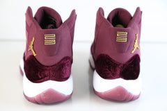 Nike Air Jordan Retro 11 RL Girls GG GS Heiress Red Velvet Night Maroon Gold 852625-650