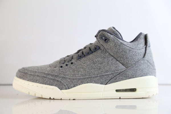 Nike Air Jordan Retro 3 Premium Grey Wool 2016 854263-004 Adult and GS