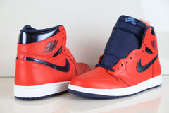 Nike Air Jordan Retro 1 High OG David Letterman Crimson Navy 555088-606