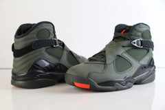 Nike Air Jordan Retro 8 Take Flight Sequoia Green Max Orange 305381-305 Adult and GS