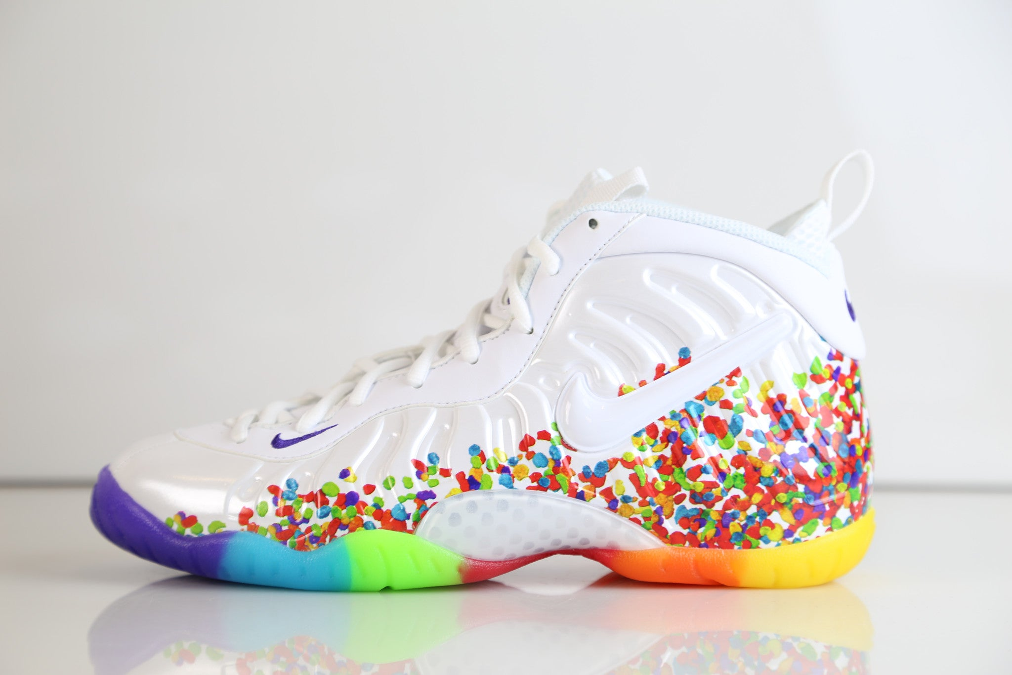 ace57d94dab7 Nike Lil Little Posite Pro Fruity Pebbles 2.0 White 644792-101 PS and