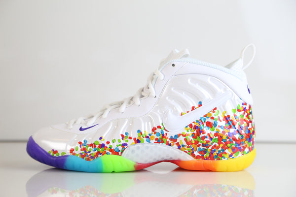 Nike Lil Little Posite Pro Fruity Pebbles 2.0 White 644792-101 PS and GS 1-7y (NO Codes)