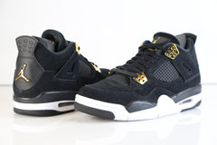 Nike Air Jordan Retro 4 Royalty Black Metallic Gold 308497-032 2017 Adult and GS 3.5y-15 (NO Codes)