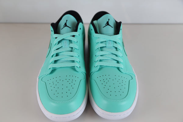 Nike Air Jordan Retro 1 Low Hyper Turquoise Black White 553558-304 ... 515aefe3ad