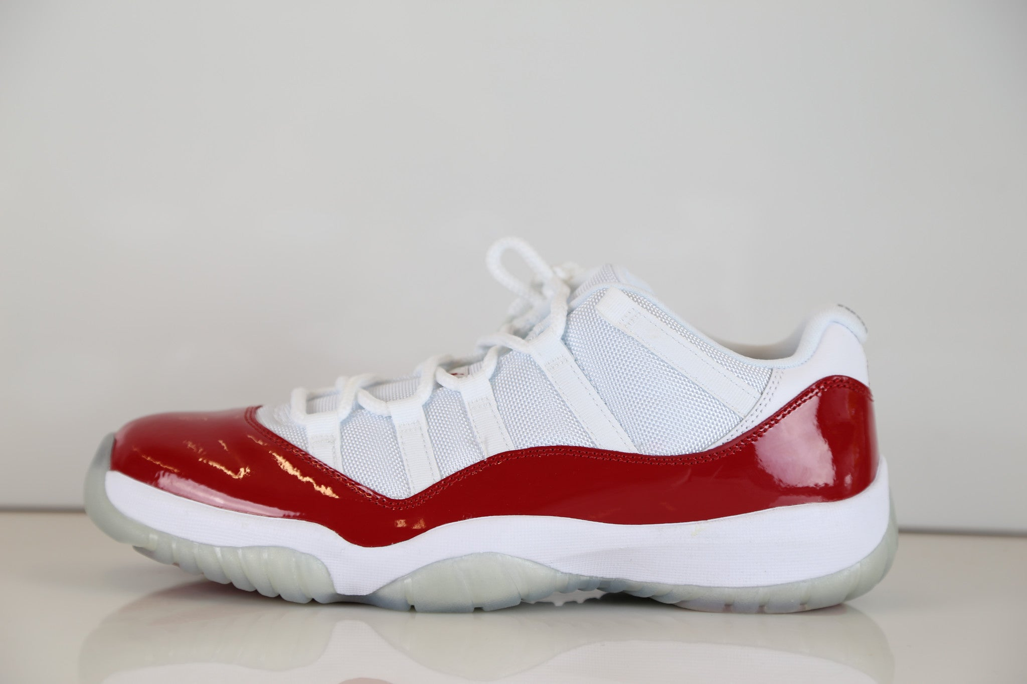 Nike Air Jordan Retro 11 XI Low Varsity Red Cherry White 528895-102 ... 77382ba19