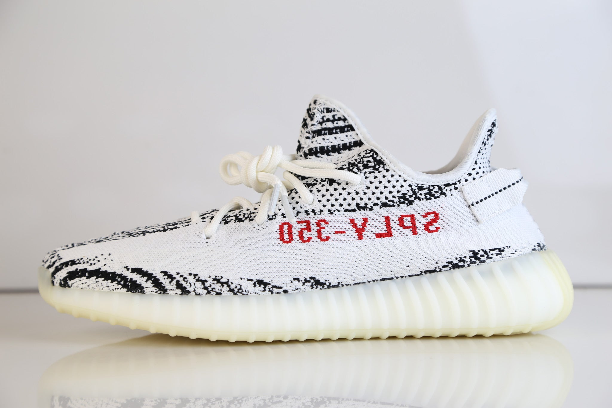 9c09993e2d802 Adidas Yeezy By Kanye West 350 V2 Zebra White Grey Red 2018 - PRE ORDE