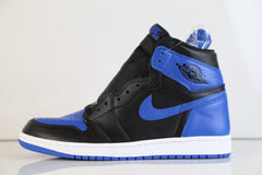 Nike Air Jordan Retro 1 High OG Black Royal Blue 2017 Adult and GS Kids(NO Codes)