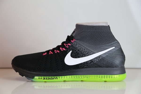 Nike Zoom All Out Flyknit Black Cool Grey Volt 844134-002