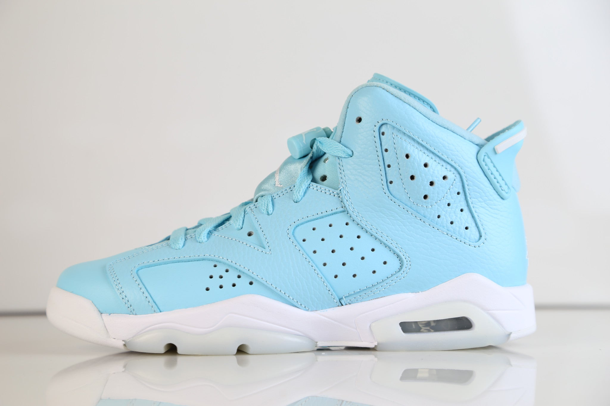 13c706c83e9 Nike Air Jordan Retro 6 Pantone Still Blue GG GS 543390-407 2017 (NO C |  Zadehkicks