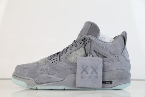 Nike X Kaws Air Jordan Retro 4 Cool Grey 930155-003 (NO Codes)