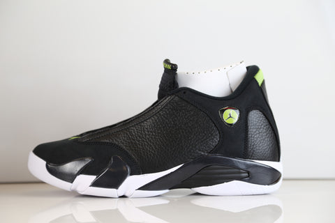 Nike Air Jordan Retro 14 Black Indiglo Vivid Green 2016  487471-005 Adult and GS