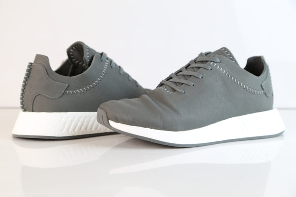 09dc0895a ... Adidas X Wings + Horns NMD R2 Leather Grey Ash BB3117 ...