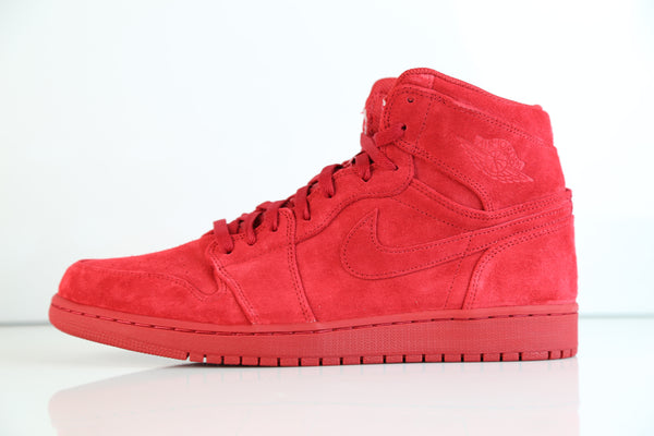 Nike Air Jordan Retro 1 High Gym Red Suede 332550-603 Adult and GS