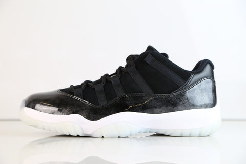 Nike Air Jordan Retro 11 Low Barons Black Metallic Silver 2017 Baron 528895-010Adult and GS (NO Codes)