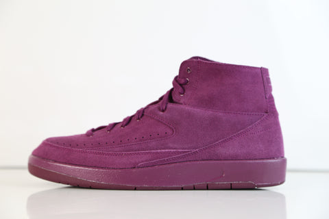 Nike Air Jordan Retro 2 Decon Burgundy Bordeaux Suede 897521-606 (NO Codes)