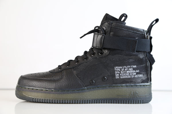 Nike Air Force 1 SF AF1 Mid Urban Utility Black Tiger Camo QS AA7345-001