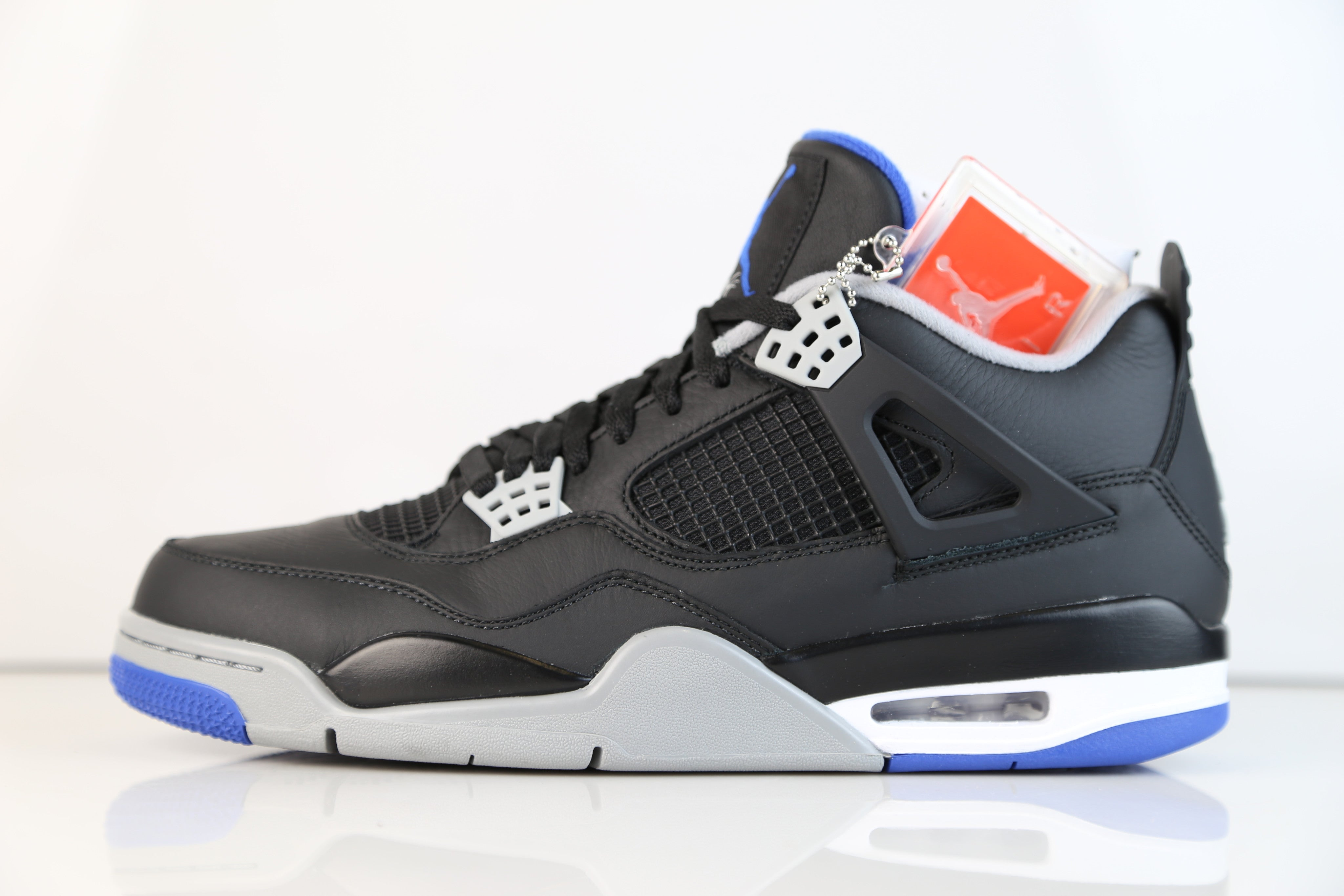 outlet store f2d3c d3f22 Nike Air Jordan Retro 4 Black Royal Blue Alternate ...