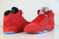 Nike Air Jordan Retro 5 Suede University Fire Red (Raging Bull) 2017 Adult and GS