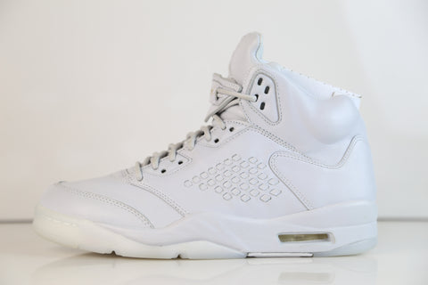 Nike Air Jordan Retro 5 PRM Premium Pure Platinum 881432-003 (NO Codes)