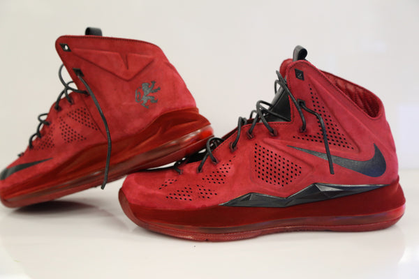 Custom Nike Lebron Suede EXT Red