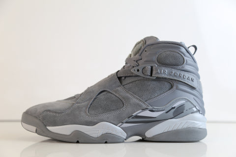 Nike Air Jordan Retro 8 Cool Grey Suede 2017 305381-014 (NO Codes)