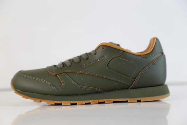 a34fc0a290719 Reebok Classic CL Leather Lux Kendrick Lamar Olive Night Gum BS7465 ...
