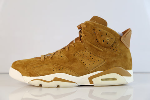 Nike Air Jordan Retro 6 Golden Harvest Wheat Suede 384664-705 2017 (NO Codes)