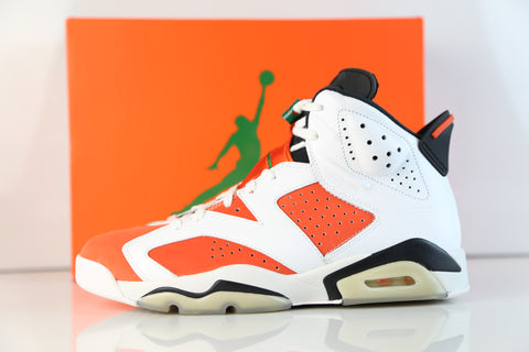 Nike Air Jordan Retro 6 Gatorade White Green Orange 2017 384664-145 (NO Codes)