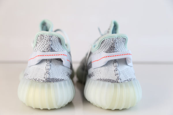 d6bcefcce46 ... Adidas Yeezy By Kanye West Boost 350 V2 Blue Tint Grey Three High Res  Red B37571 ...