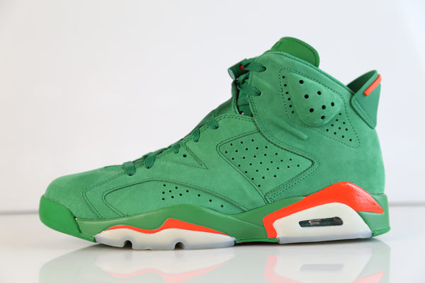 Nike Air Jordan Retro 6 NRG Gatorade Pine Green Suede Orange AJ5986-335 (NO Codes)