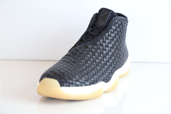 half off 06c83 e9f10 ... Nike Air Jordan Future Premium Leather Black Gum Sail 652141-019 ...