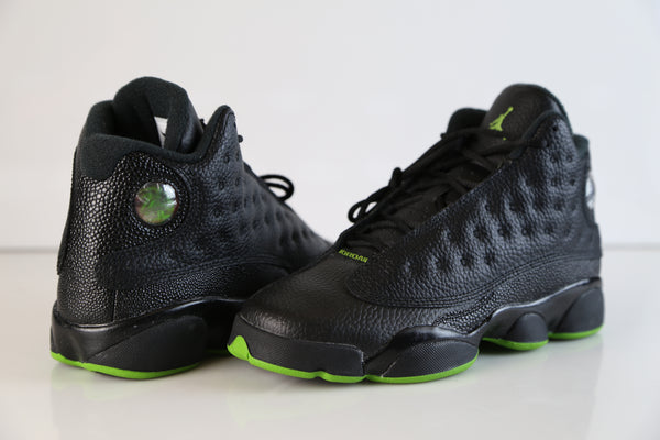 67df1b2927b ... Nike Air Jordan Retro 13 Altitude OG Black Green 2017 414571-042 Adult  and GS