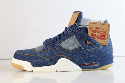 Nike Air Jordan X Levi's Retro 4 NRG Dark Blue Denim Game Red Gum A02571-401 (NO Codes)