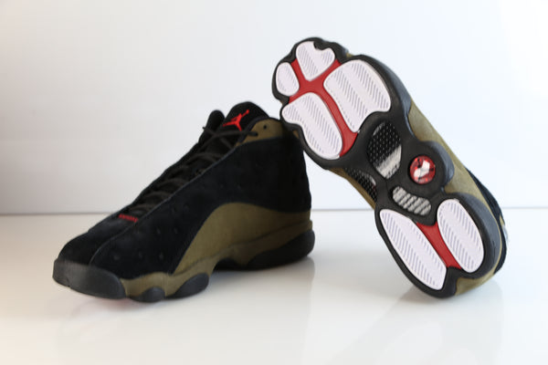 on sale 1902a 65957 ... Nike Air Jordan Retro 13 Light Olive Black True Red 414571-006 2018  Adult and