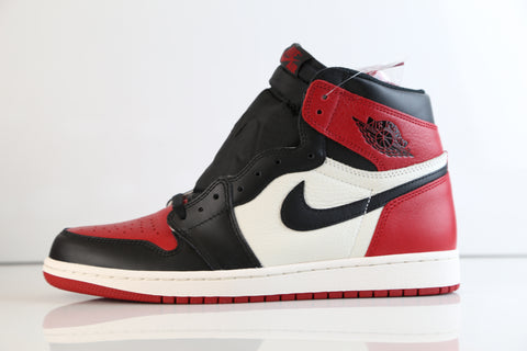 Nike Air Jordan Retro 1 High OG Black Summit White Gym Red Bred Toe 555088-610 2018 Adult and GS PRE ORDER