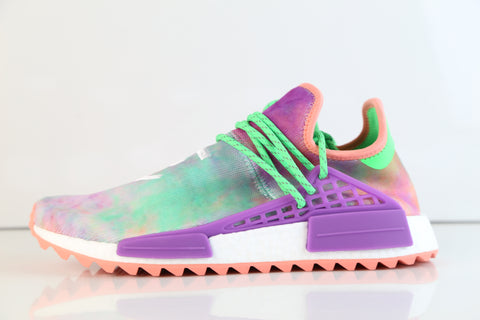 Adidas PW Pharrell Williams HU Human Race NMD HOLI MC Flash Green Chalk Coral Purple AC7034