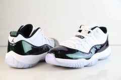 Nike Air Jordan Retro 11 Low Easter White Black Emerald Rise 528895-145 Adult and GS