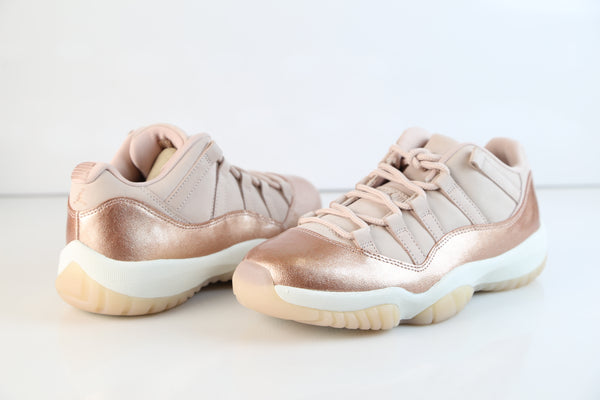 ddb2bc061bd792 ... Nike Womens Air Jordan Retro 11 Low Rose Gold Red Bronze Sail AH7860-105  ...