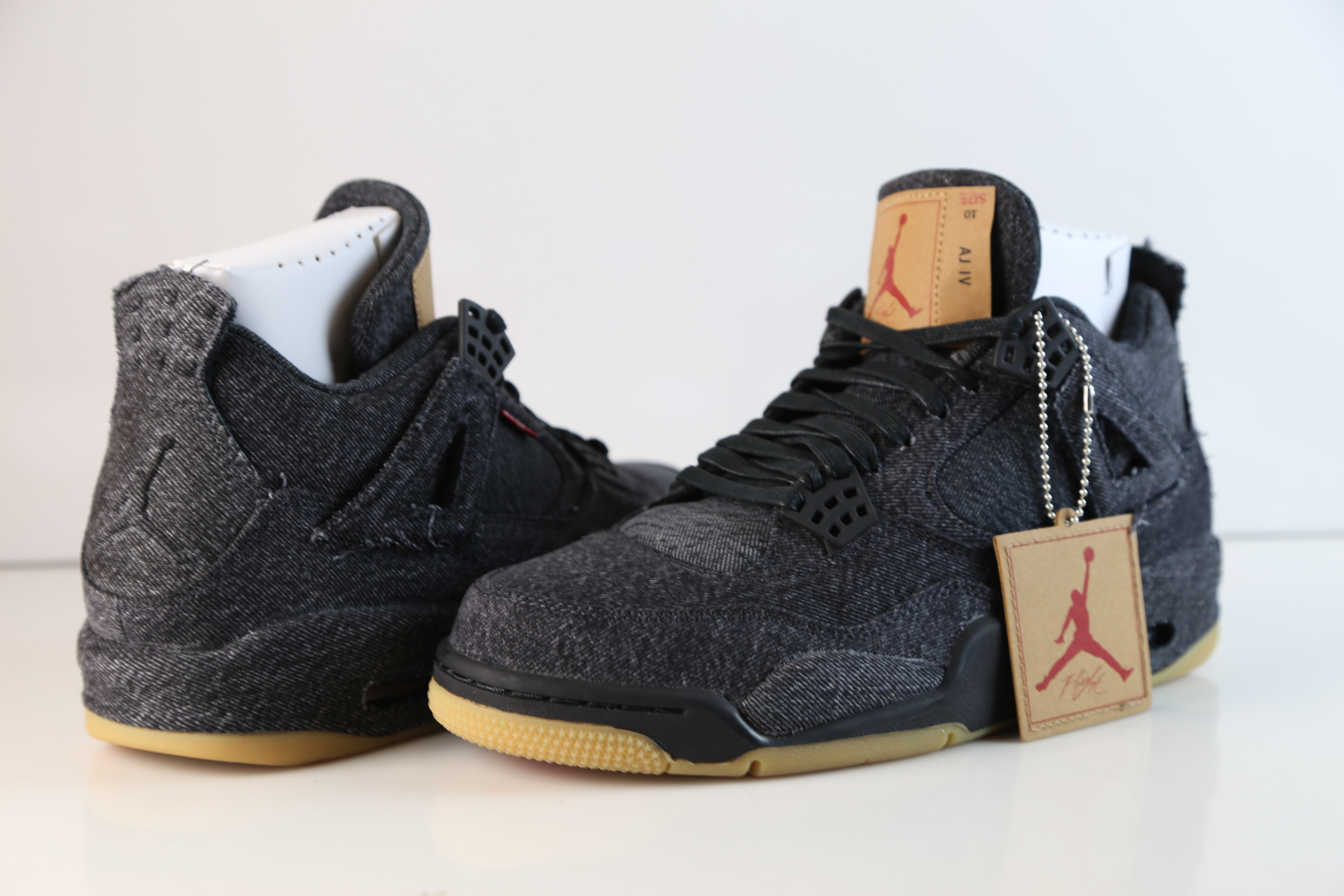 Nike Air Jordan X Levi s Retro 4 Black Denim AO2571-001 2018 Adult.   325.00. Size 5c43afb87
