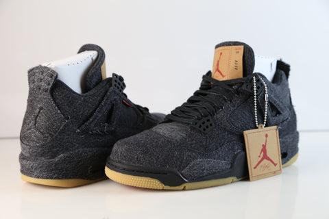 Nike Air Jordan X Levi's Retro 4 Black Denim AO2571-001 2018 Adult