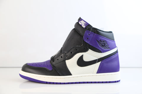 f0e25d6d57d Nike Air Jordan Retro 1 High OG Court Purple Sail Black 555088-501 Adult GS