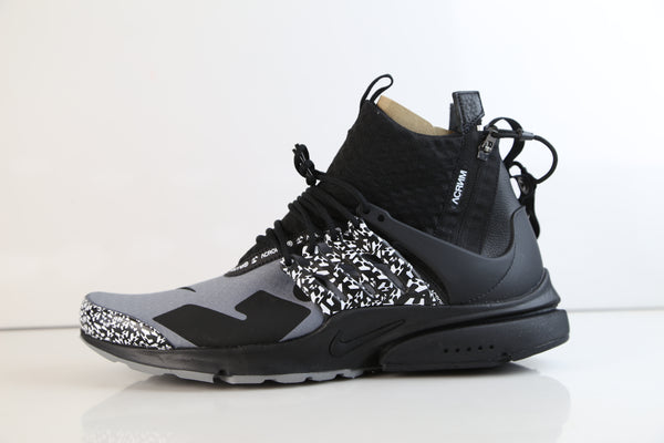 Nike X Acronym Air Presto Mid Cool Grey Black 2018 AH7832-001